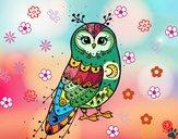 Dibujo Lechuza de invierno pintado por cuyito