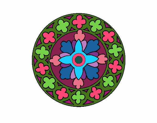 Dibujo Mandala 21 pintado por bonfi