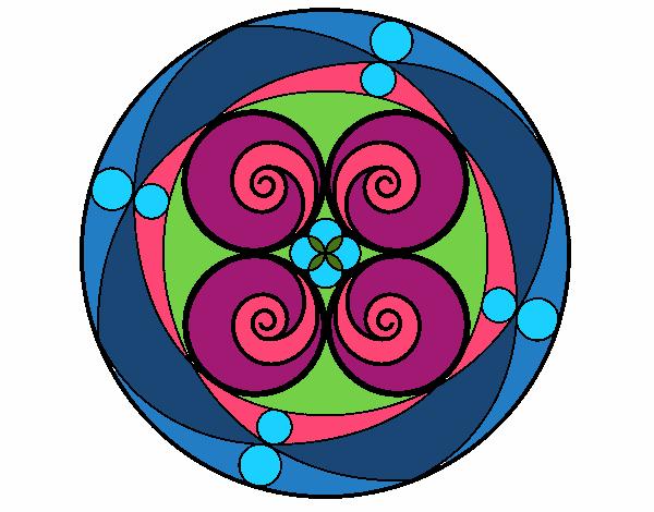 Dibujo Mandala 5 pintado por bonfi