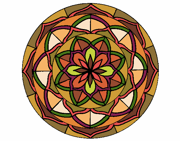 Dibujo Mandala 6 pintado por bonfi