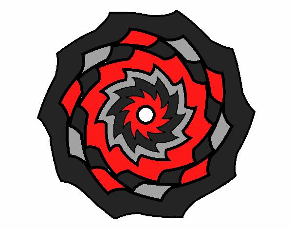 Dibujo Mandala 9 pintado por bonfi