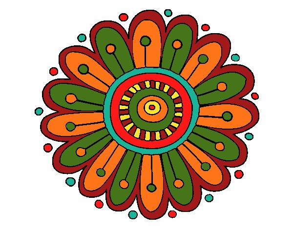 Dibujo Mandala margarita pintado por bonfi
