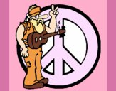 Músico hippy