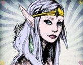 Dibujo Princesa elfo pintado por marycrissk