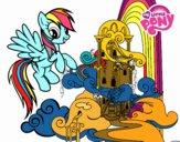 Rainbow Dash en su palacio