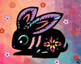 Dibujo Signo del conejo pintado por cuyito