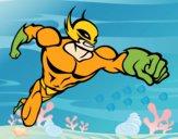 Dibujo Superhéroe sin capa pintado por LosPrimos6