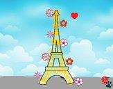 Dibujo Torre Eiffel pintado por cuyito