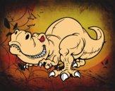 Dibujo Tyrannosaurus Rex pintado por fact