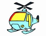Dibujo Un Helicóptero pintado por fact