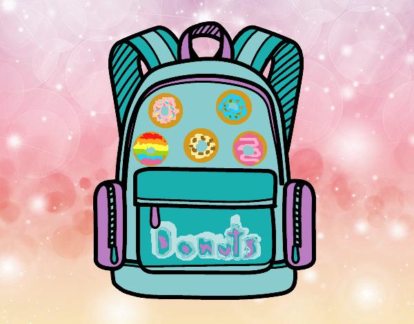 Dibujo Una mochila escolar pintado por LosPrimos6