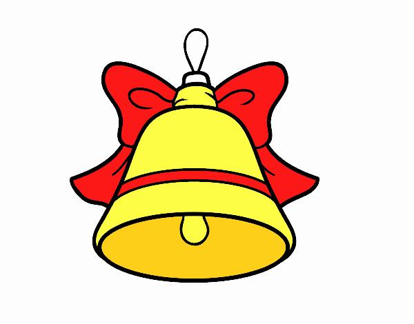 Dibujo de decoraci n de navidad campana pintado por en for Dibujos adornos navidad