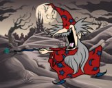 Dibujo Mago loco pintado por johandanie