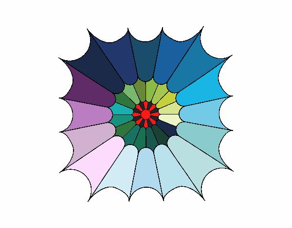 Dibujo Mandala 15 pintado por bonfi