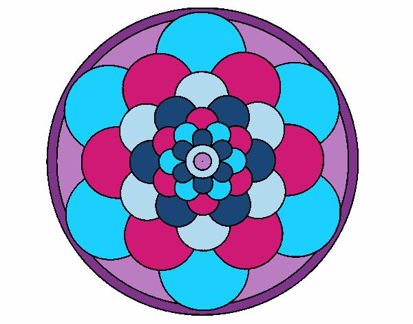 Dibujo Mandala 22 pintado por bonfi
