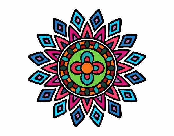 Dibujo Mandala destellos pintado por bonfi