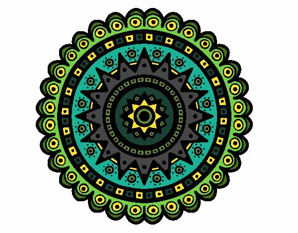 Dibujo Mandala étnica pintado por bonfi