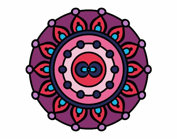Dibujo Mandala meditación pintado por bonfi