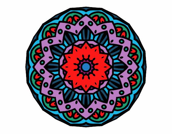 Dibujo Mandala modernista pintado por bonfi