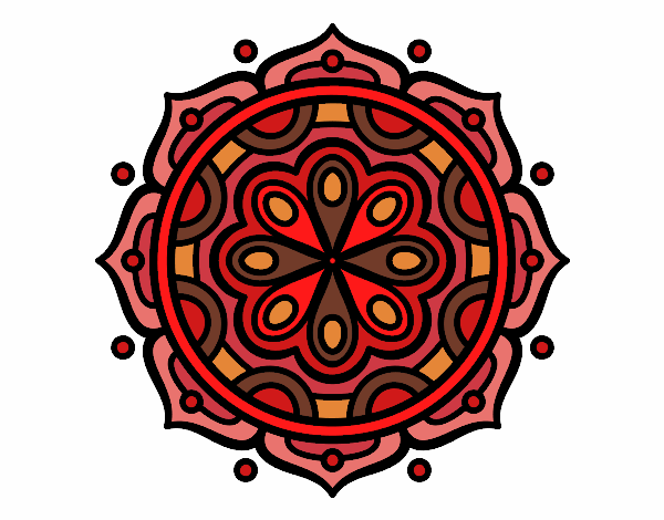 Dibujo Mandala para meditar pintado por bonfi