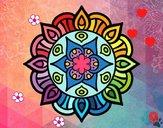 Dibujo Mandala vida vegetal pintado por cuyito
