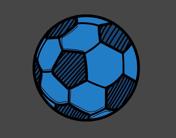 Dibujo Balón de fútbol pintado por gransamuel