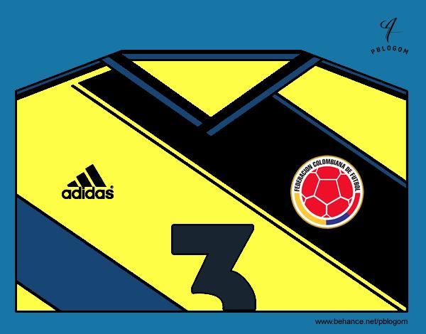 Dibujo Camiseta del mundial de fútbol 2014 de Colombia pintado por gransamuel