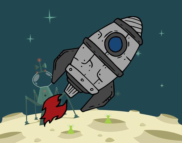 Dibujo Cohete supersónico pintado por gransamuel