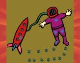 Cohete y astronauta