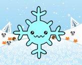 Copo de nieve kawaii