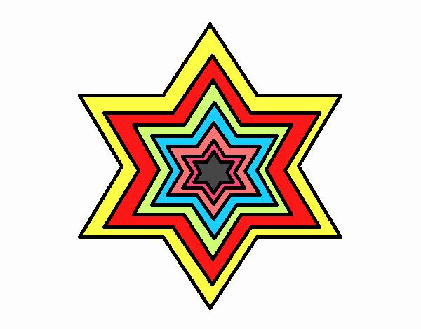 estrella colorida @q