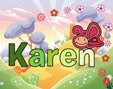 Dibujo Karen pintado por cuyito