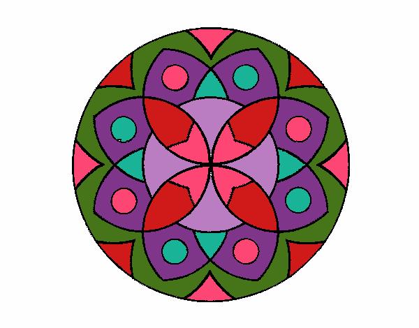 Dibujo Mandala 13 pintado por bonfi