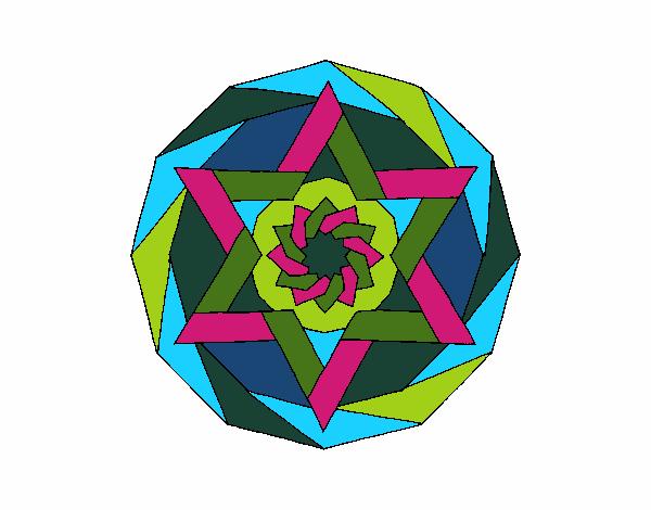 Dibujo Mandala 18 pintado por bonfi