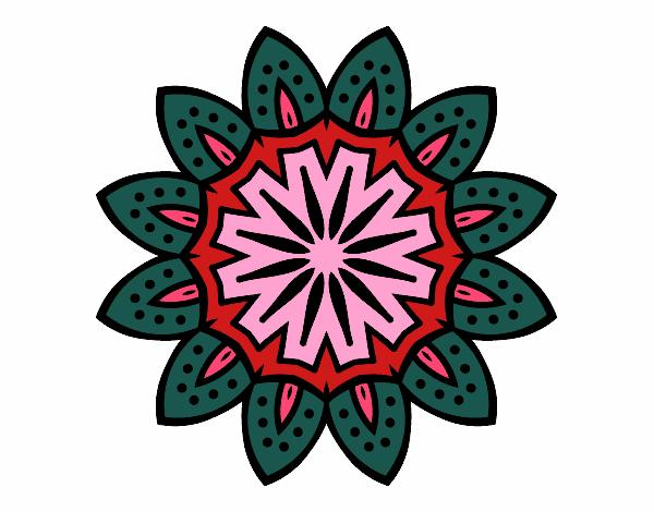 Dibujo Mandala con pétalos pintado por bonfi