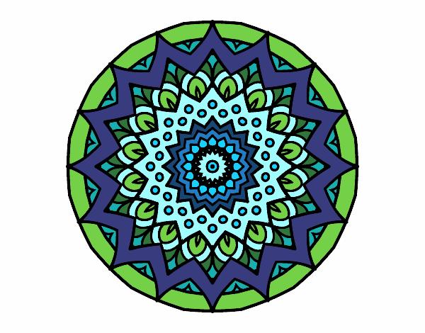 Dibujo Mandala creciente pintado por bonfi