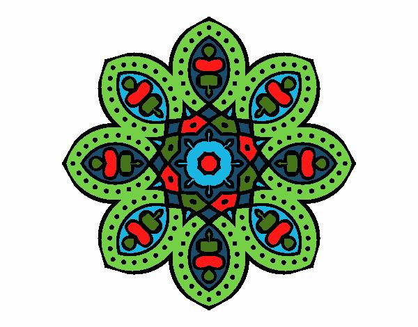 Dibujo Mandala de inspiración árabe pintado por bonfi