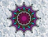 Mandala flor de nieve