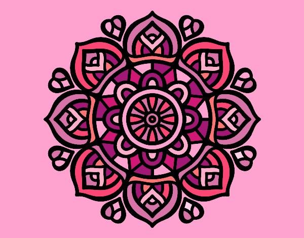 Dibujo Mandala para la concentración mental pintado por gransamuel