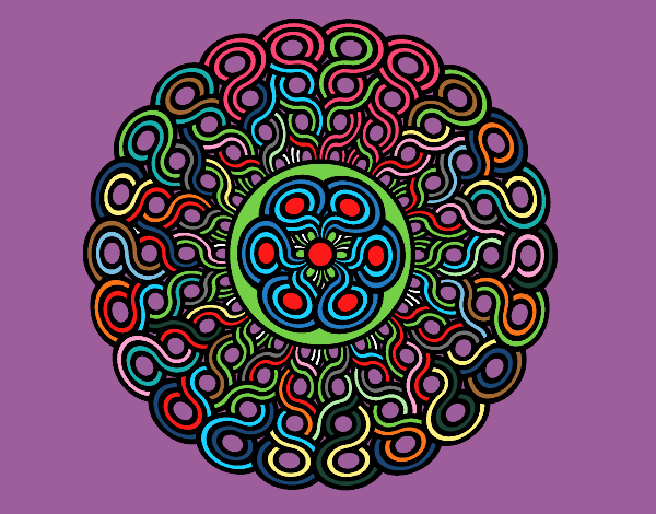 Dibujo Mandala trenzada pintado por bonfi