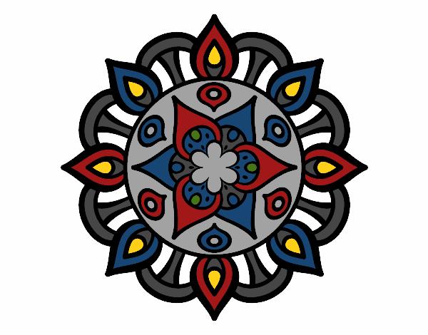 Dibujo Mandala vida vegetal pintado por gransamuel
