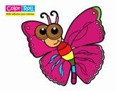 Dibujo Mariposa Color Roll pintado por joshue