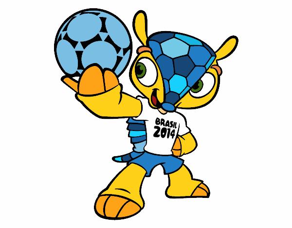 Dibujo Mascota Fuleco pintado por gransamuel