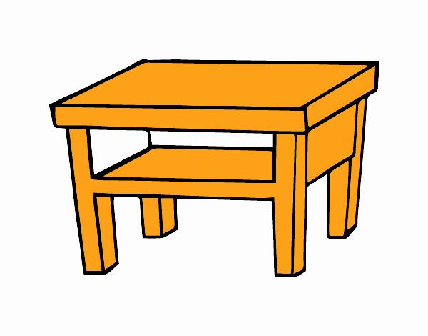 Dibujo de mesa de sal n pintado por en el d a for Mesa de luz para dibujo