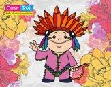 Dibujo Niño indio Color Roll pintado por mariac127