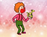 Dibujo Payaso con un globo perrito pintado por SILUFU
