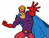 Dibujo Superhéroe enmascarado pintado por Osobal