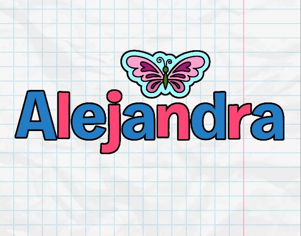 Dibujo Alejandra pintado por gav007a