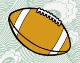 Dibujo Balón de fútbol americano pintado por samiangeli