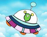 Extraterrestre en nave espacial
